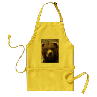 Grizzly Bear-017, Grizzly Bear Adult Apron