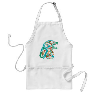 Grizzly Bear Abstract Design Adult Apron
