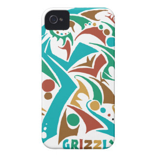 Grizzly Bear Abstract Design Case-Mate iPhone 4 Case