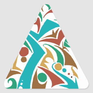 Grizzly Bear Abstract Design Triangle Sticker