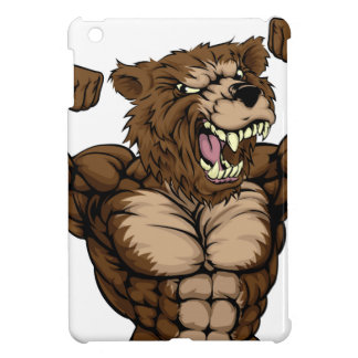Grizzly Bear Animal Mascot iPad Mini Covers