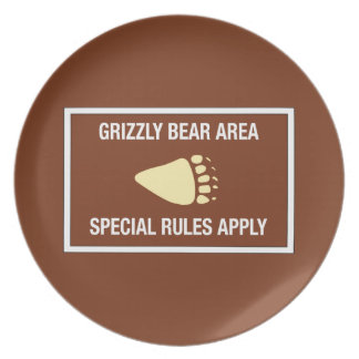 Grizzly Bear Area, Sign, Wyoming, US Plate