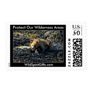 GRIZZLY BEAR ART POSTAGE