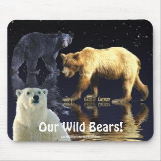 GRIZZLY BEAR, BLACK BEAR & POLAR BEAR MOUSEPAD