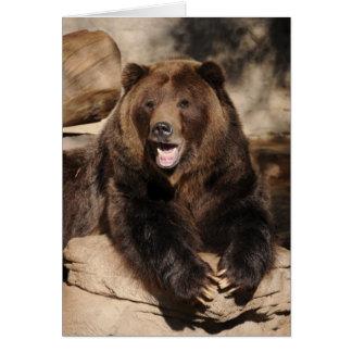 Grizzly Bear Boar Card