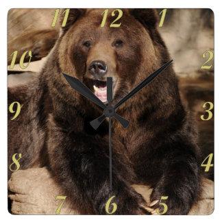 Grizzly Bear Boar Wall Clocks