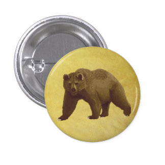 Grizzly Bear Pinback Buttons