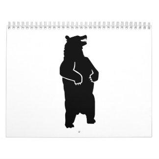 Grizzly bear calendar