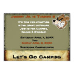 """Grizzly Bear Campout Birthday Invite 5"""" X 7"""" Invitation Card"""