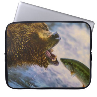 Grizzly Bear Catching Steelhead Salmon Sleeves