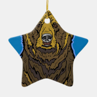 Grizzly Bear Ceramic Ornament