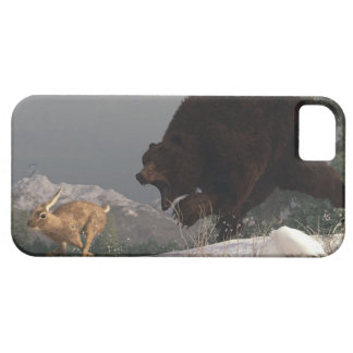 Grizzly Bear Chasing Rabbit iPhone SE/5/5s Case
