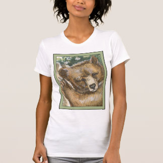 Grizzly Bear Cub and Tree Stump T-Shirt