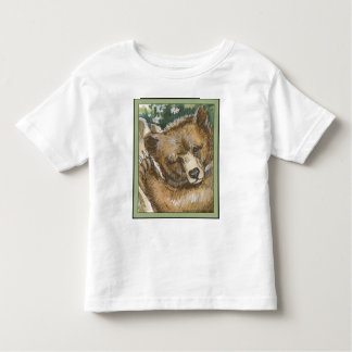 Grizzly Bear Cub and Tree Stump Toddler T-shirt