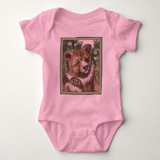 Grizzly Bear Cub Baby Bodysuit