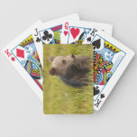 Grizzly Bear Cub Bicycle Playing Cards