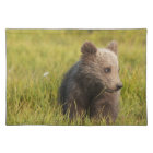 Grizzly Bear Cub Cloth Placemat