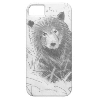 Grizzly Bear Cub Drawing iPhone 5 Cases