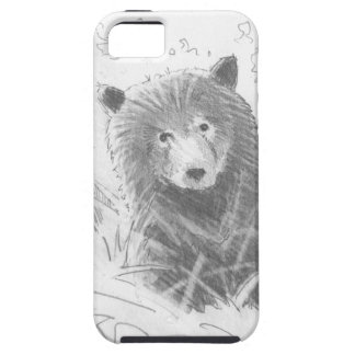 Grizzly Bear Cub Drawing iPhone 5 Cover