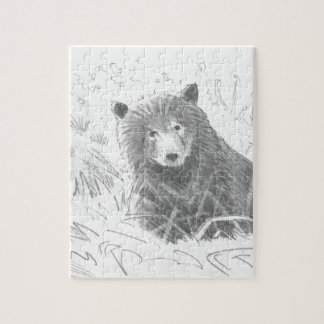 Grizzly Bear Cub Drawing Jigsaw Puzzles