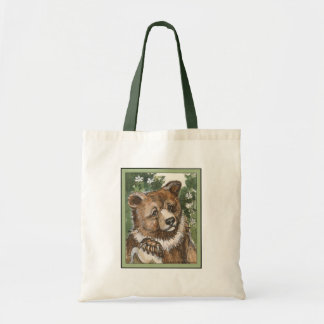 Grizzly Bear Cub Tote Bag