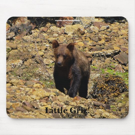 Grizzly Bear Cub Wildlife Supporter Mousepad