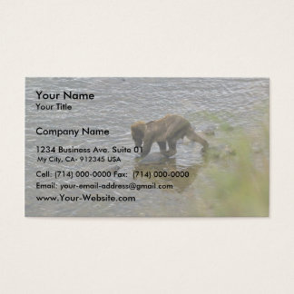 Grizzly bear cubs business card
