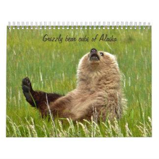Grizzly bear cubs of Alaska calender Calendar