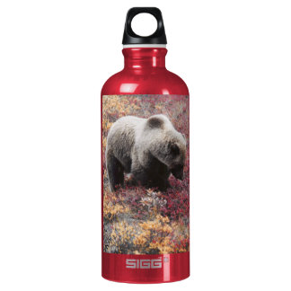 Grizzly Bear | Customizable Aluminum Water Bottle