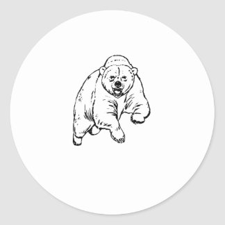 Grizzly Bear Drawing Stickers