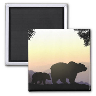 Grizzly Bear family Magnet