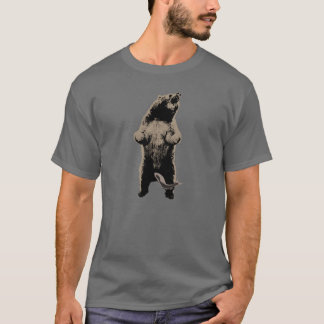 Grizzly Bear & Fish Funny T-Shirt