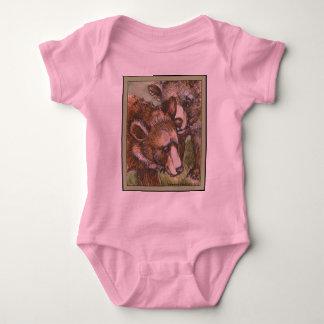 Grizzly Bear Friends Baby Bodysuit