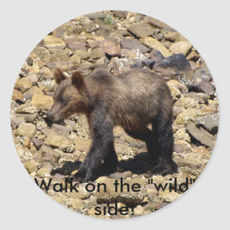 Grizzly Bear Gifts Classic Round Sticker