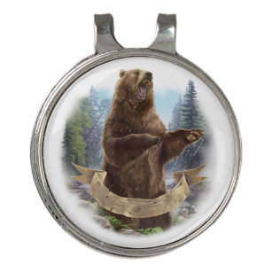 Grizzly Bear Golf Hat Clip and Ball Marker e7d3ed2f2ca2