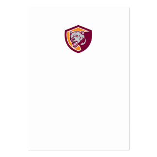 Grizzly Bear Head Shield Retro Business Card Template