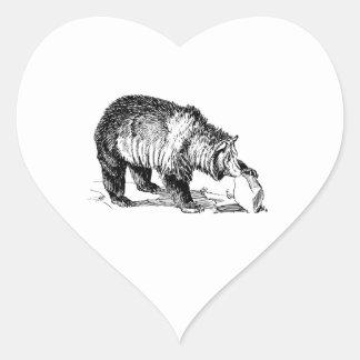 Grizzly Bear Heart Sticker