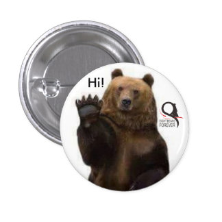 grizzly bear hi pinback button
