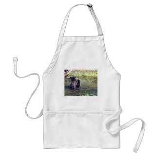Grizzly Bear in the Water Adult Apron