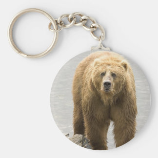 Grizzly Bear in Water at the Kodiak Refuge Keychain