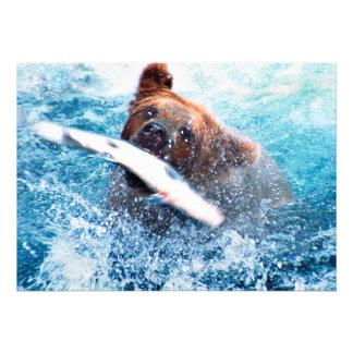 Grizzly Bear Invitation Custom Announcement