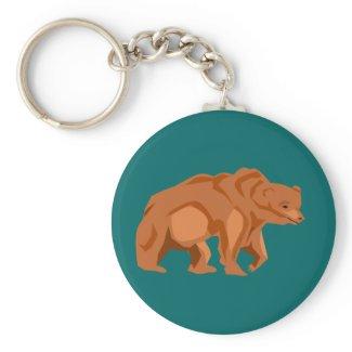 Grizzly Bear Keychain keychain