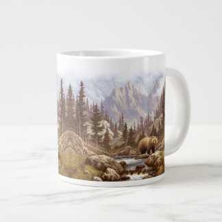 Grizzly Bear Landscape Jumbo Mug