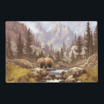 "Grizzly Bear Landscape Laminated Placemat<br><div class=""desc"">Grizzly Bear Landscape</div>"