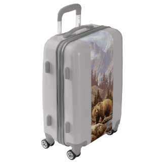 Grizzly Bear Landscape Luggage Suitcase