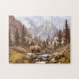 Grizzly Bear Landscape Puzzle