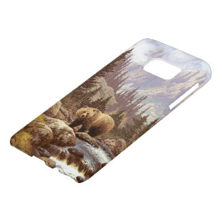Grizzly Bear Landscape Samsung Galaxy S7 Case
