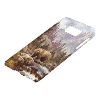 Grizzly Bear Landscape Samsung Galaxy S7 Case