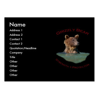 Grizzly Bear Large Business Cards (Pack Of 100)