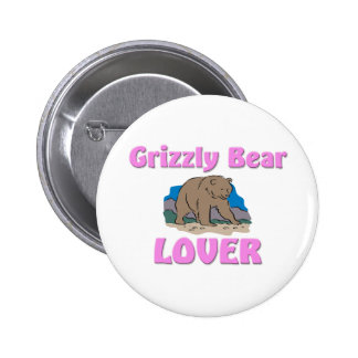 Grizzly Bear Lover Pinback Button